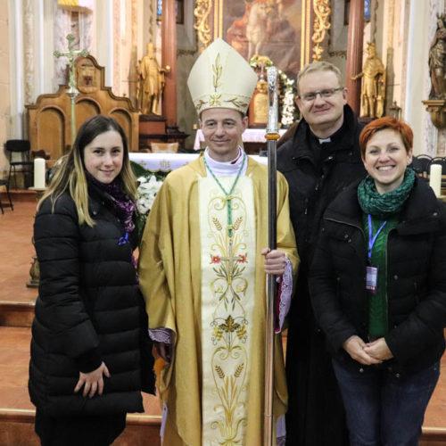redakcja z nowym biskupem